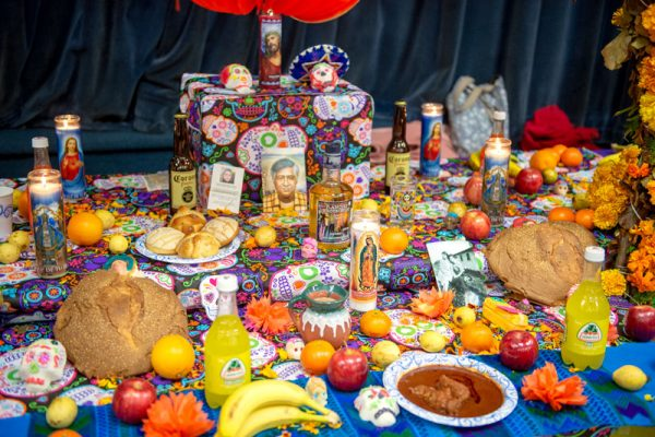 A decorated ofrenda