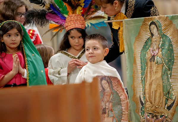 Kids dressed up in Mass.