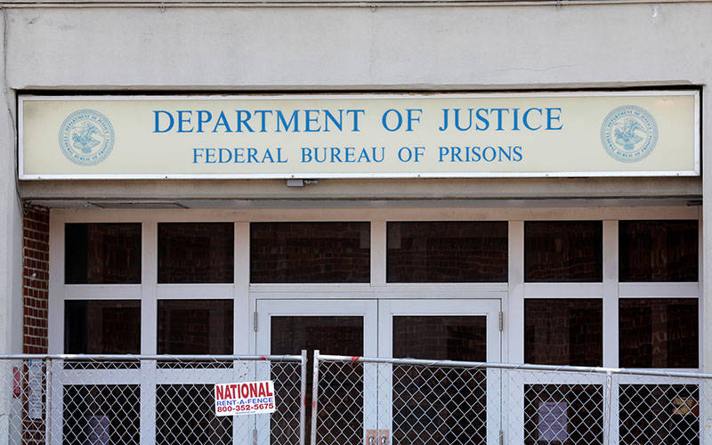 A Federal Bureau of Prisons building is pictured in the Brooklyn borough of New York City July 6, 2020. (CNS photo by Mike Segar/Reuters)