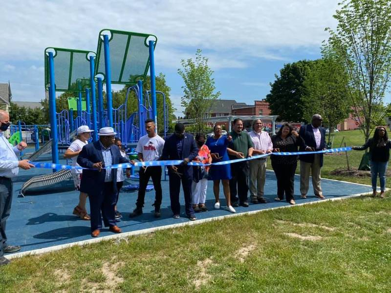 The ribbon-cutting ceremony for the renovated Don Samuel Torres Park in Rochester took place June 11. (Photo courtesy of Carlos Torres)