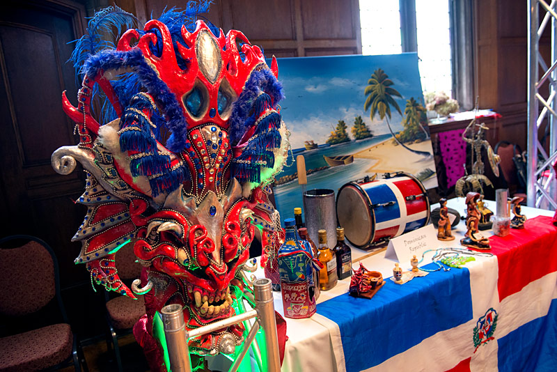 A table displaying cultural items from the Dominican Republic was one of many on display during the Memorial Art Gallery's Hispanic/Latino Heritage Family Day Oct. 8.