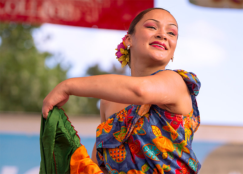 A dancer performs.