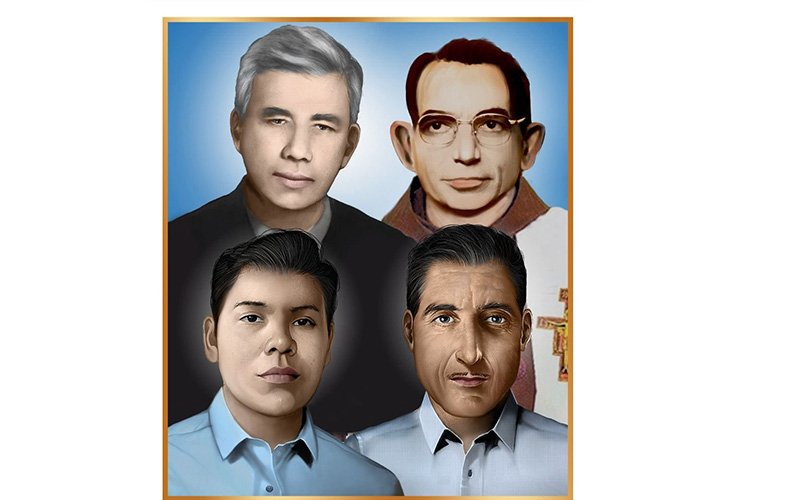 Here is the official portrait of four Salvadorans set for beatification in San Salvador Jan. 22, 2022.