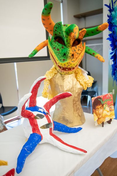 Vejigante from Puerto Rico are displayed.