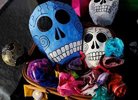 Paper skulls.