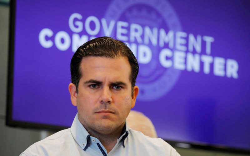 Puerto Rican Gov. Ricardo Rossello is pictured in a Sept. 30, 2017, photo. The president of the Puerto Rican bishops' conference said the actions of Rossello and his administration were the final straw for residents of the U.S. commonwealth who have suffered through years of financial mismanagement, corruption and the devastating aftermath of Hurricane Maria. (CNS photo/Carlos Barria, Reuters) See PUERTO-RICO-ROSSELLO-GONZALEZ July 23, 2019.