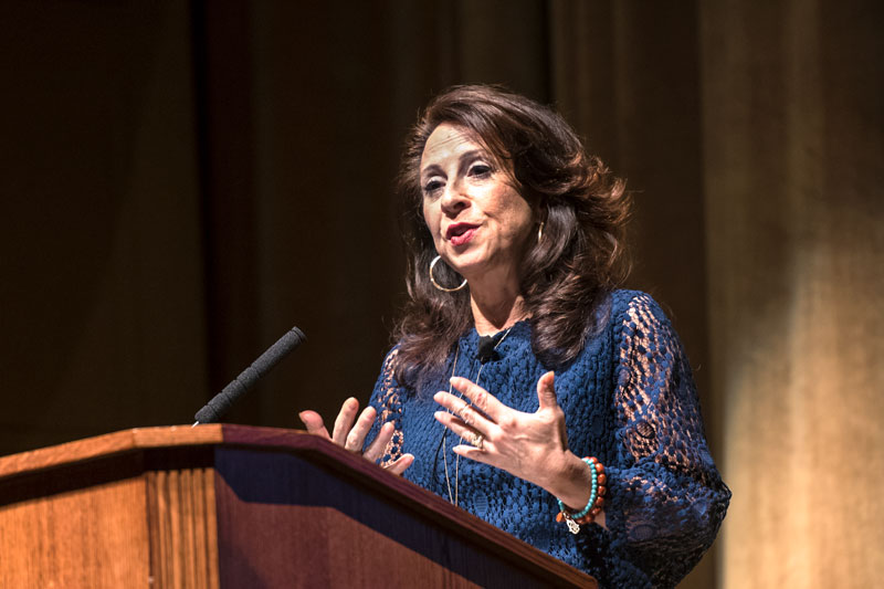 Maria Hinojosa delivers the Dr. Martin Luther King Jr. Commemorative Address at the University of Rochester Jan. 19.