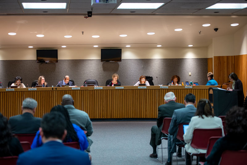 The Rochester City School Board meet during a Jan. 17 session where board members discussed options they plan to submit to the state.
