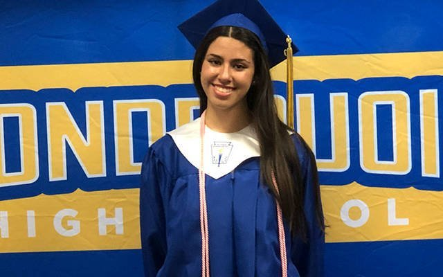 Sofia Caruana, who recently graduated from Irondequoit High School, will be awarded the ninth-annual <em>El Mensajero Católico/Catholic Courier</em> scholarship. (Photo courtesy of Sofia Caruana)