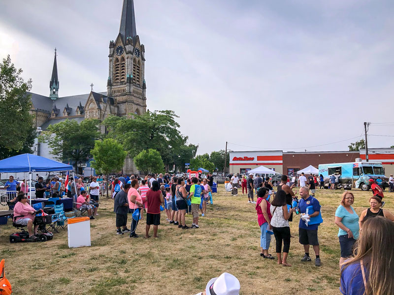 """A """"Market Day at the International Plaza"""" event was hosted by the Ibero American Action League July 12, 2018 to showcase potential for the plaza area. (Photo courtesy of Ibero)"""