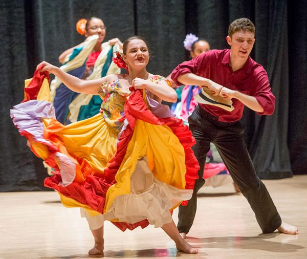 Borinquen Dance Theatre members perform La Plena during the Together We Dance United We Soar at the Hochstein School of Music and Dance on April 29 in Rochester.