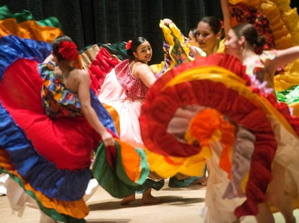 "Borinquen Dance Theatre members perform La Plena during ""Together We Dance, United We Soar"" at the Hochstein School of Music & Dance April 29."