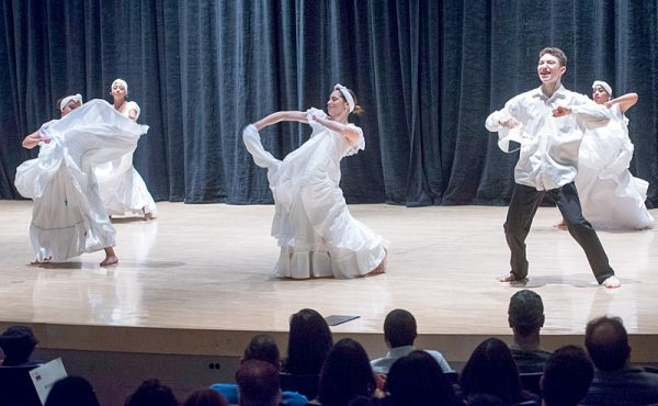 Borinquen Dance Theatre members perform Bomba during the Together We Dance United We Soar at the Hochstein School of Music and Dance on April 29 in Rochester.
