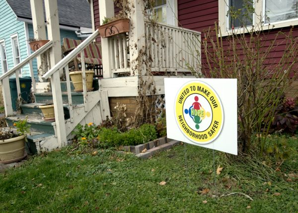 Residents in the North Clinton neighborhoods have made their fight against crime and drug use in the area known with signs outside of their homes.