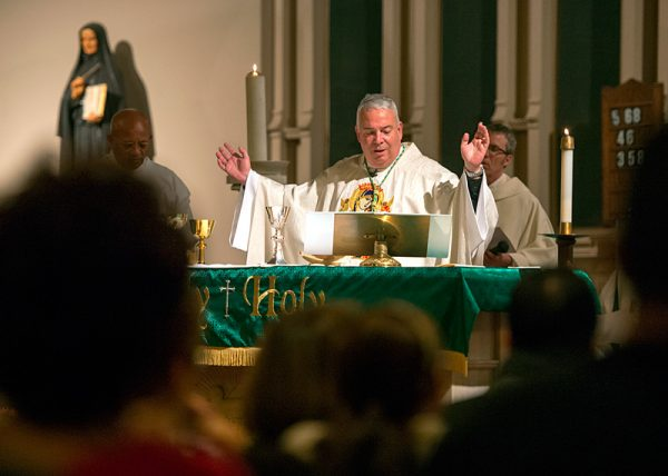 Bishop Nelson Peréz of the Diocese of Rockville Centre presides at the Mass.