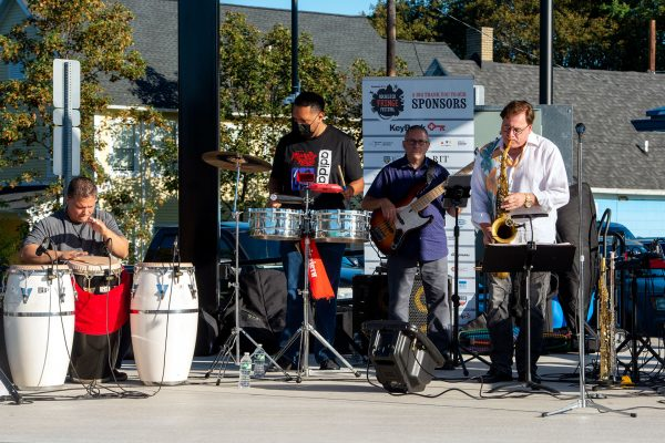 The Mambo Kings perform on stage at the International Plaza.