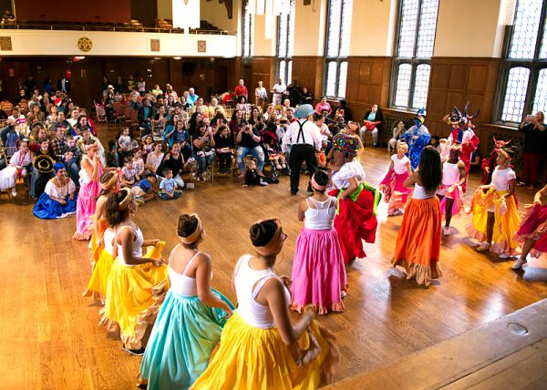 The Avenue D Dance Group perform in the ballroom.