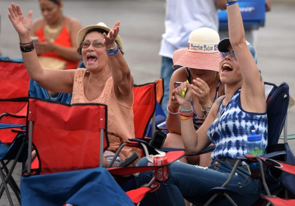 Luz, left, and Mercedita Figueroa enjoy the 47th annual Puerto Rican Festival in Rochester, Friday, August 5.