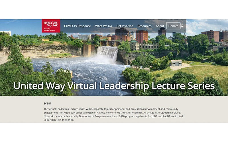 United Way of Greater Rochester is hosting an eight-part virtual Leadership Lecture Series through November.