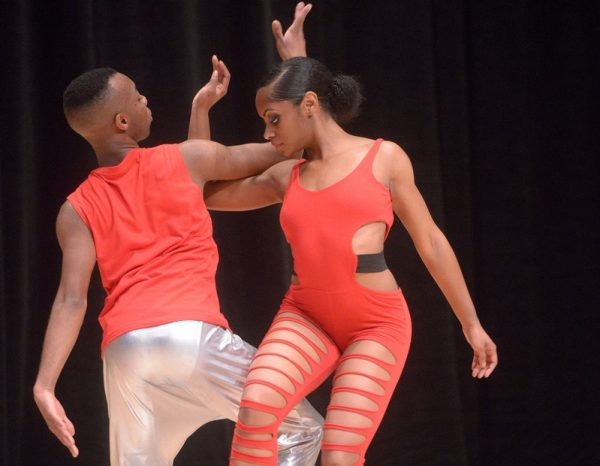 Dancers perform during Borinquen Dance Theatre's 38th-anniversary community performance April 27 at The Hochstein School in Rochester.