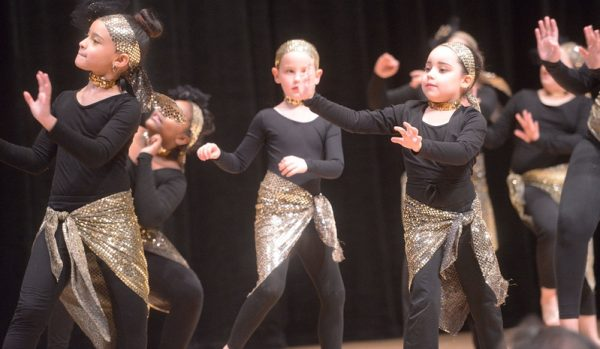 """Youngsters perform a dance called """"Afro/Latin Fusion."""""""