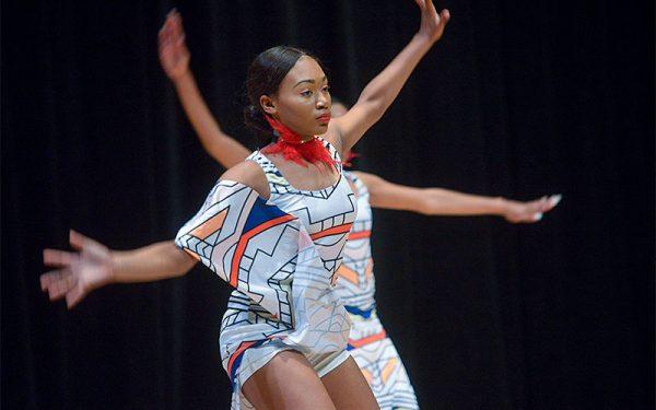 "Zanyla Penn performs a dance titled ""Umoja"" (unity)."
