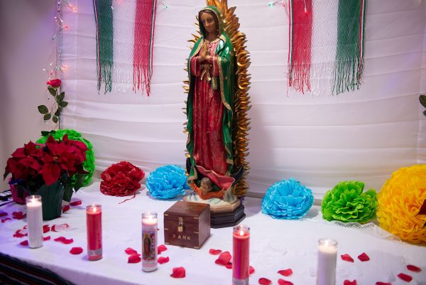 A statue of Our Lady of Guadalupe